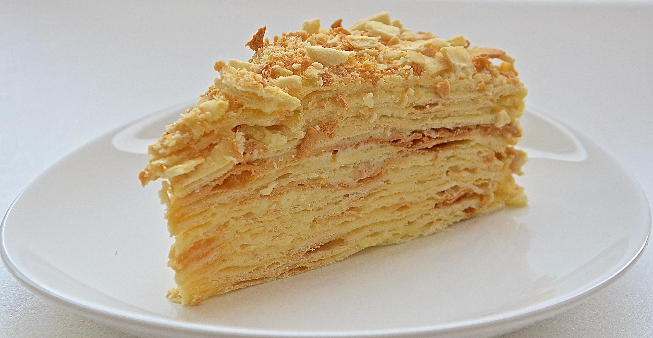 Наполеон торт классический рецепт со сгущенкой