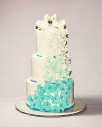 """Торт """"Цветочная волна"""""""