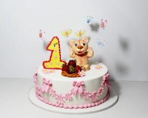 """Торт """"Первый день рождения"""""""