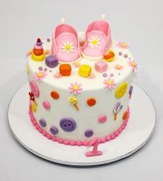 "Торт ""Пинетки для девочки"""