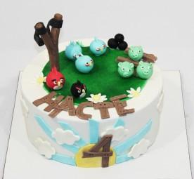 """Торт """"Angry Birds 2"""""""