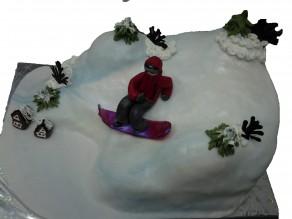 "Торт ""Сноубординг"""