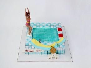 """Торт """"Пловчиха"""""""