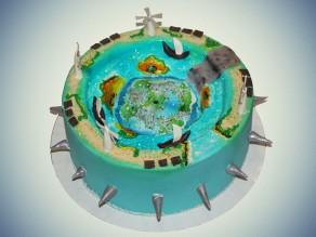 """Торт-проектирование  """"Защита острова от наводнения"""""""