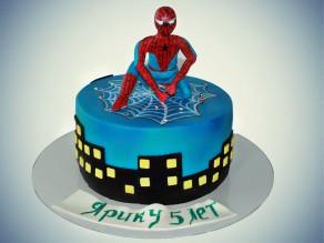 """Детский торт """"Человек паук"""""""