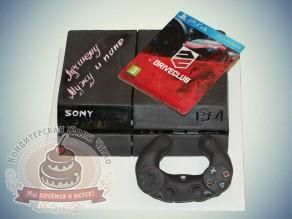 "Чижо Торт ""Игровая приставка Sony PS4"""