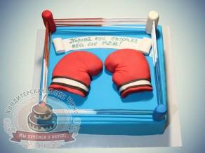 """Торт """"Боксерский ринг с перчатками"""""""