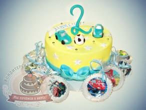 """Торт и пряники """"Для малыша Максима в день рождения"""""""