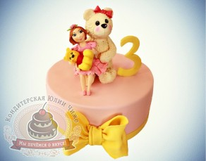 "Торт ""Детский тортик на 3 года"""
