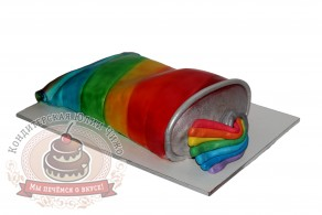 """Торт """"Тюбик с красками"""""""